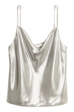 Shimmering strappy top - Silver - Ladies | H&M 2